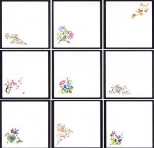 画像1: 送料無料・五寸懐紙・選べる11種類 100枚