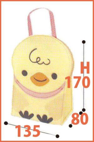 画像2: 送料無料・不織布 アニマルバッグ「ひよこ」(サイズ=クッキー・焼き菓子など5コ入れ用)135×80×H170mm「10個から」