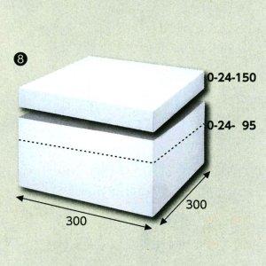 画像1: 送料無料・白無地組み立てかぶせ箱300×300×150 フタ高45(mm) 「10枚から」