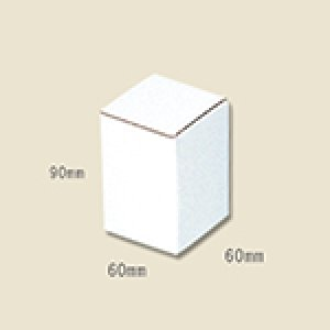 画像1: 送料無料・白ダンボールサック式箱 60×60×90mm 「10枚から」