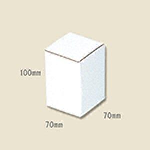 画像1: 送料無料・白ダンボールサック式箱 70×70×105mm 「10枚から」