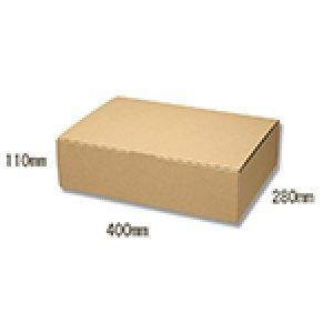 画像1: 送料無料・組立式ダンボール箱・エコ 400×280×110mm 「10枚から」