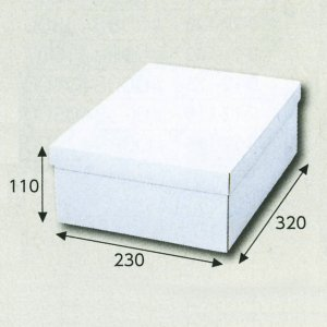 画像1: 送料無料・白無地スリッパ箱230×320×110(mm) 「10枚から」