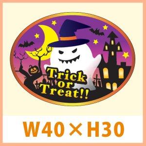 画像1: 送料無料・販促シール「Trick or Treat!!」 W40×H30(mm) 「1冊300枚(1シート10枚)」