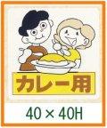送料無料・販促シール「カレー用」40x40mm「1冊500枚」