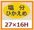 送料無料・販促シール「塩分ひかえめ」27x16mm「1冊1,000枚」