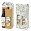 送料無料・ワイン2本手提箱窓付箱 「50箱」E段 適応瓶:約82φ×340Hまで