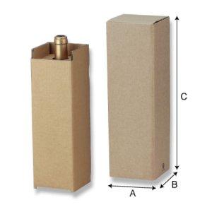 画像1: 送料無料・レギュラーワイン宅配用1本入 「100箱」5号段 適応瓶:約88φ×338Hまで