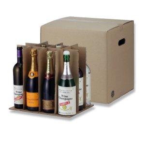 画像1: 送料無料・ワイン720ml×12本入用ダンボール箱「20箱」 適応瓶:約90φ×345Hまで