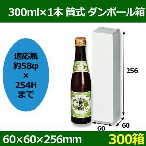 画像1: 送料無料・300ml×1本 筒式ダンボール箱「300箱」F段 適応瓶:約58φ×254Hまで