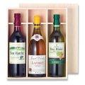 送料無料・ワイン3本入平置式木箱「28箱」ファルカタ材 適応瓶:約84φ×310Hまで