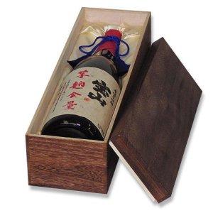 画像1: 送料無料・一升瓶1本焼き木箱 「20箱」桐材 432×120×110mm