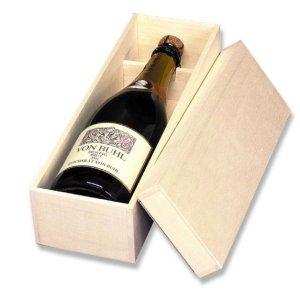 画像1: 送料無料・シャンパン1本用箱「30箱」ファルカタ木材 適応瓶:約95φ×324Hまで