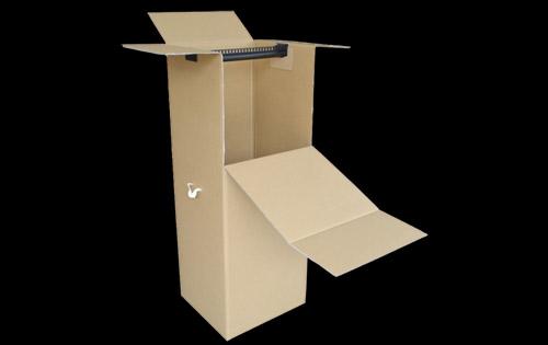 アパレル用ダンボール箱(ハンガー吊ダンボール)