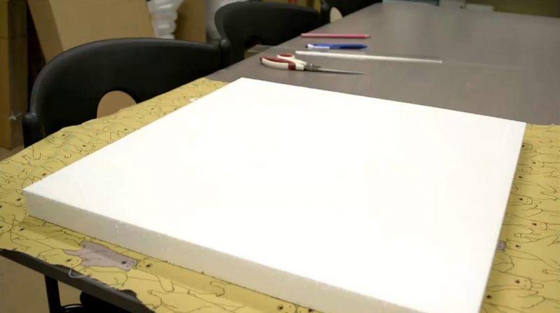 発泡スチロール製ファブリックボード用意するもの