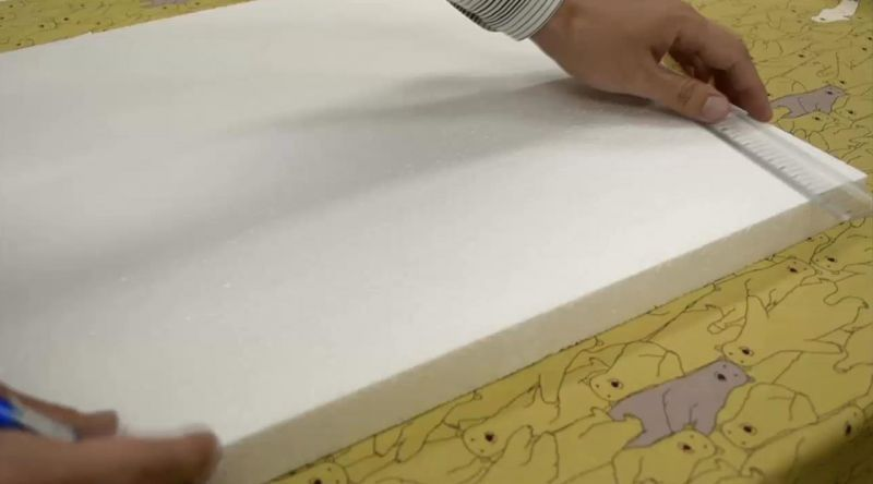 発泡スチロール製ファブリックボード作り方