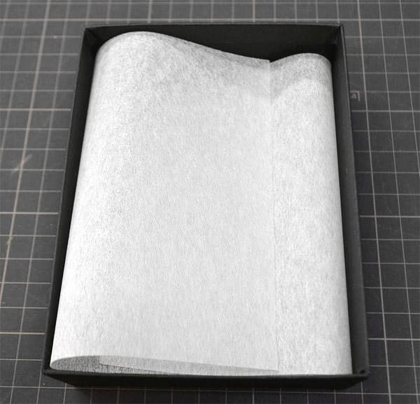 小銭入れ用貼箱と薄紙