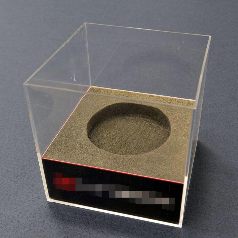 クリアディスプレイパッケージ(緩衝材+紙台紙+シール)