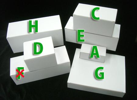 白段ボール箱各種サイズ